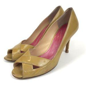 5 for $25 Kate Spade Mustard Leather Open Toe heel
